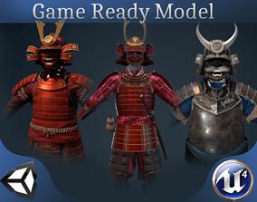 3 Samurai armors 3D model