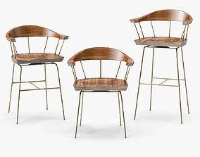 3D model BassamFellows Spindle Chair