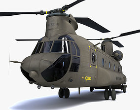 transport 3D Chinook helicopter