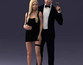 Spy with a girl 0127 3D Print Ready