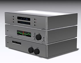 3D model Stereo Equalizer CD Player Tuner