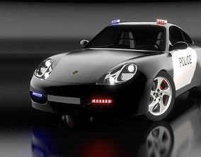 Porsche 911 Carrera S4 Police free 3D asset