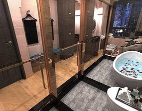 3D model Fully Equiped Massage Room SPA