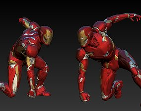 3D print model Iron Man Mk46 Landing Pose