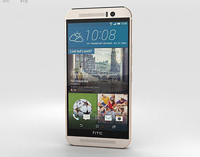 HTC One M9 Silver Rose Gold 3D model