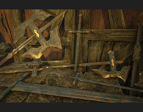 Medieval Weapons - Magic 3D model