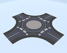 City Roundabout 3D asset