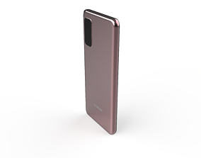 SAMSUNG s20 pink 3D Model facts