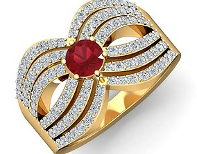 Women cocktail ring 3dm stl render detail jewel