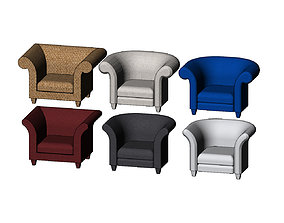 3D print model Miniature armchair mockups props N02