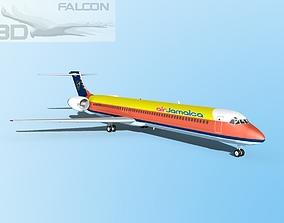 rigged Falcon3D MD-80 Air Jamaica