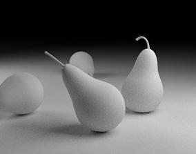 3D Untextured Pears