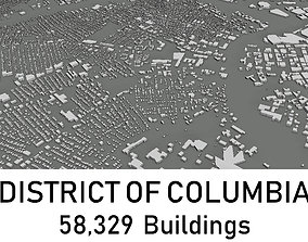 low-poly District of Columbia - 58329 3D Buildings