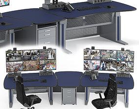 3D Vertiv Knurr Ergocon Control Room Infrastructure