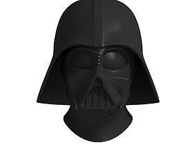 futuristic 3D model Darth Vader Helmet