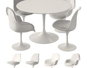 Knoll Tulip Table Set 3D model