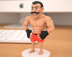 Miniature of boxing champion 3D printable model