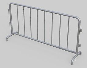 3D asset Road Safety Barrier 1