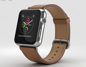 3D Apple Watch Series 2 38mm Stainless Steel Case Saddle 1