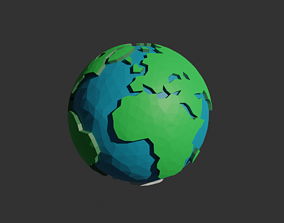3D asset Low Poly Planet Earth
