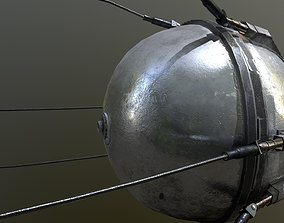 Sputnik 1 Satellite 3D model