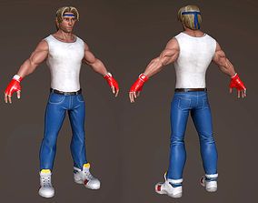Fighter 3D asset realtime