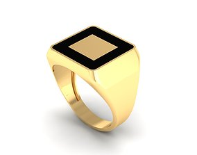 3D print model Enamel Men Ring