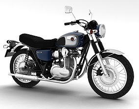 3D model Kawasaki W800 2014