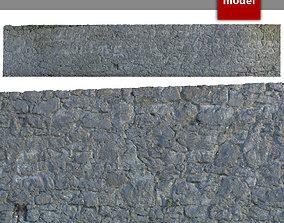 3D asset 225 Stone Wall