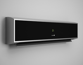 Wall Air Conditioner 08 3D model