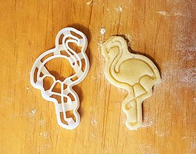 Flamingo Bird cookie cutter 3D print model