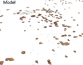 3D Autumn leaves Decal scan