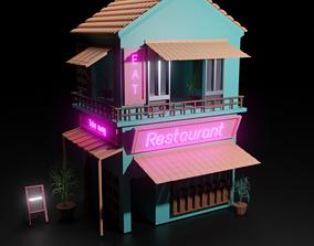 3D model Traditional Japanese Shop or Restaurent