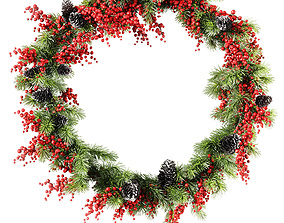 Christmas wreath v3 3D