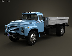 ZIL 130 Flatbed Truck 1964 3D