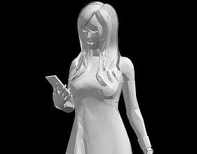 3D model Low-Poly Woman Walking - Free Sample