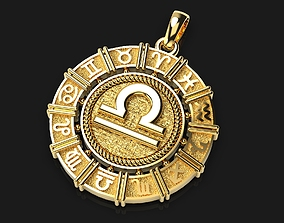 Pendant with the zodiacs 3D print model