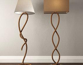 3D model Rope Pier Floor Lamps