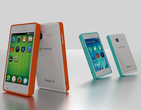 Alcatel One Touch Fire Phone Pack 3D model