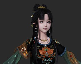 3D model Ancient Chinese Little Girls Loli pretty 1