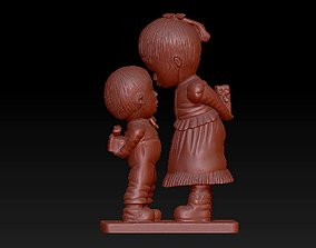 Boy And Girl Statue 3D printable model