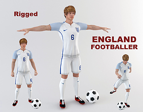 3D England footballer