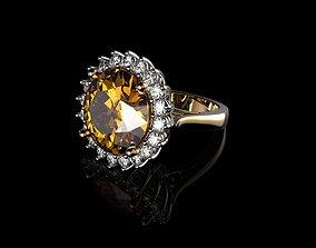 3D printable model Yellow Citrine Jewelry