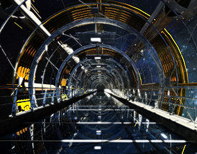 Sci fi Tunnel 3D