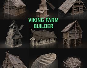 3D Viking Farm Settlement Builder Village House Cottage 1