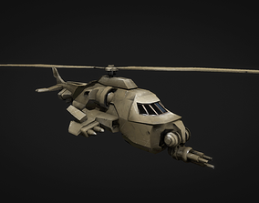 military 3D asset VR / AR ready helicopter