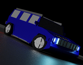 3D asset game-ready Low-Poly Hummer H3 Car