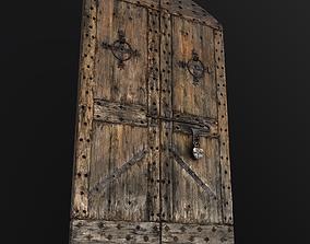 Old Medieval Door 3D asset