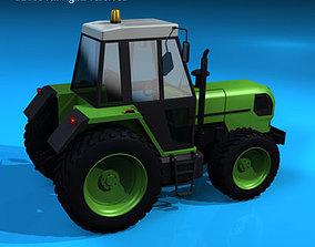 field 3D model Farm tractor