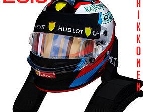 3D model Raikkonen helmet 2018